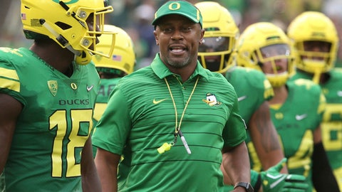 Willie Taggart went 7-5 in his lone season at Oregon. AP  AP
