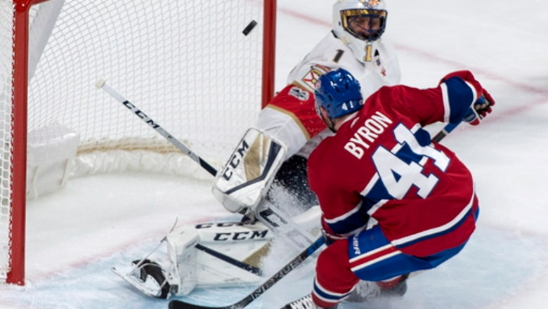 Paul Byron scores twice, Canadiens beat Panthers 3-1