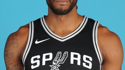 SAN ANTONIO, TX - SEPTEMBER 25:  Kawhi Leonard #2 of the San Antonio Spurs poses for a head shot during media day in San Antonio, Texas at AT&T Center on September 25, 2017. NOTE TO USER: User expressly acknowledges and agrees that, by downloading and or using this photograph, User is consenting to the terms and conditions of the Getty Images License Agreement. Mandatory Copyright Notice: Copyright 2017 NBAE (Photo by Mark Sobhani/NBAE via Getty Images)