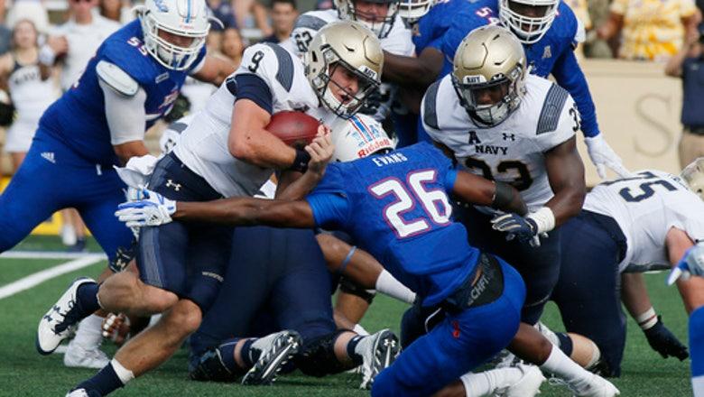 Abey, Navy's running game grinds down Tulsa to stay unbeaten
