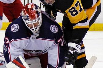 Calvert, Bjorkstrand help Blue Jackets top Penguins 3-0