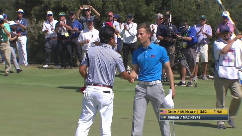 Watch team USA's early split in Day 2 of the 46th Walker Cup