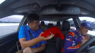 Defending winner Denny Hamlin takes Michael Waltrip for a ride around New Hampshire Motor Speedway I NASCAR RACEDAY