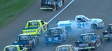 Johnny Sauter triggers multi-truck wreck at Las Vegas   2017 TRUCK SERIES   FOX NASCAR
