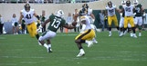 Michigan State WR Laress Nelson makes astonishing one-handed grab against Iowa