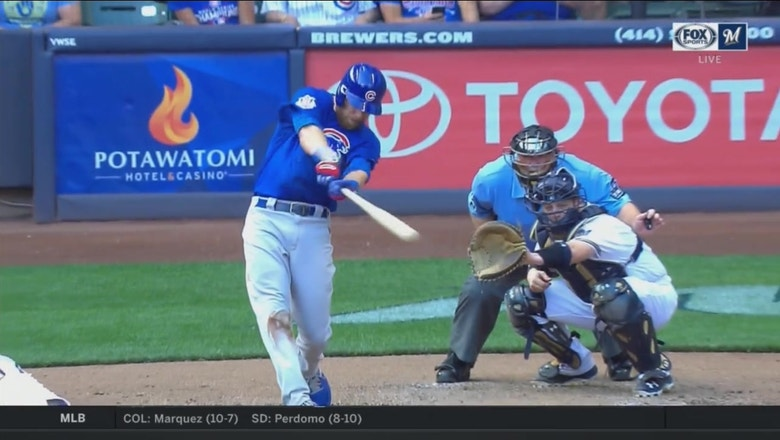 WATCH: Cubs' Zobrist homers to extend lead over Brewers