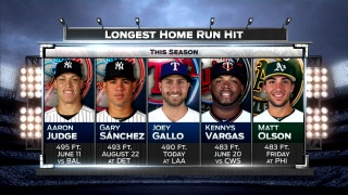 Joey Gallo hit it a long way in the 2nd   Ranger Live