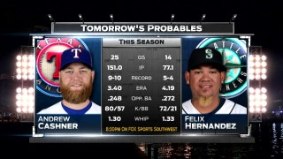 Wednesday Pitching matchup vs. Mariners | Rangers Live