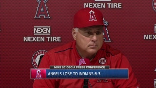 Angels lose to Cleveland but don't lose ground in wild-card race