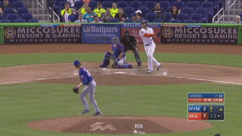 WATCH: Giancarlo Stanton hits a 117 mph screamer for 56th home run