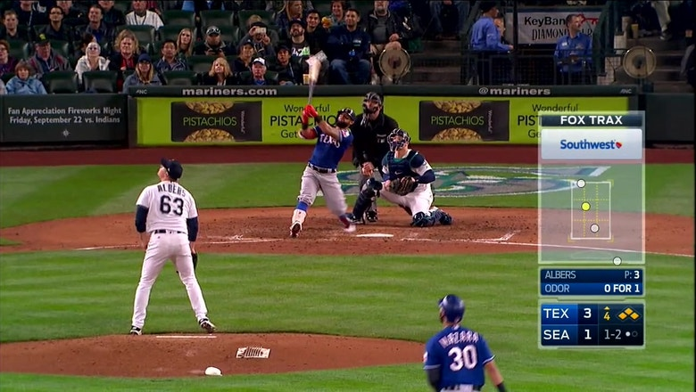 WATCH: Rougned Odor hits Grand Slam in 4th inning vs. Mariners