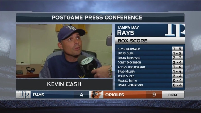 Kevin Cash: I don't think Archer had good command of his slider