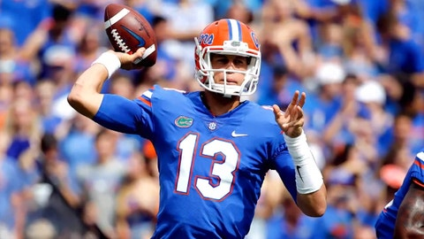 Feleipe Franks is the Florida Gators' starting quarterback. Again