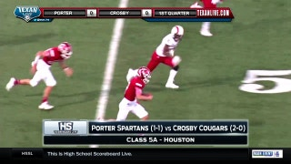 Porter vs. Crosby | High School Scoreboard Live