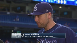 Peter Bourjos describes getting bunt down on a safety squeeze