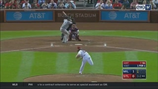 WATCH: Vogt leads Brewers offense in win over Cards