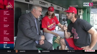Randal Grichuk interviews Jim Hayes and John Gant