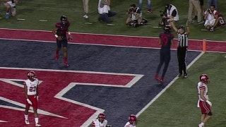 Arizona's Brandon Dawkins scores with a 1-yd touchdown run