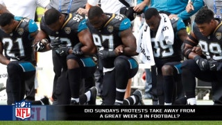 Did the protests take away from a great day of NFL football?