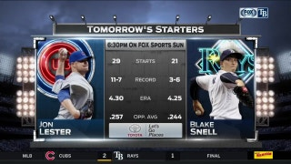 Lefties Blake Snell, Jon Lester square off in Rays-Cubs finale