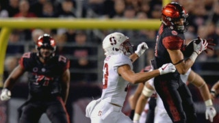 A proud moment for the Holder family as twin brothers Mikah and Alijah battled in the Stanford-SDSU game