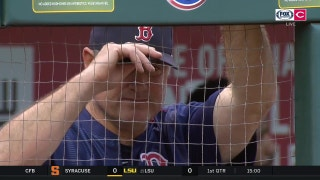 Reds' Luke Farrell earns a tip of the cap from his dad