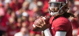 Jalen Hurts and the No. 1 Alabama Crimson Tide trounce the Fresno State Bulldogs 41-10