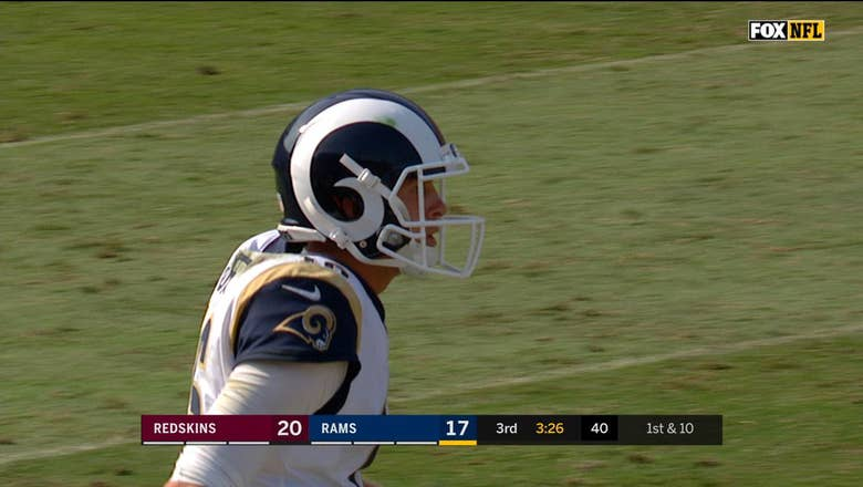 Jared Goff drills ref in the head with errant throw