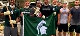 Michigan State football comes to Houston's aid amid devastating Hurricane Harvey destruction