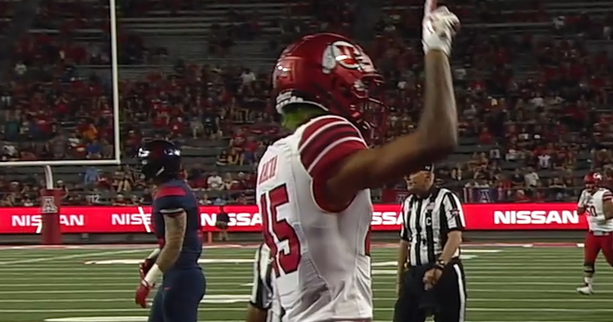 Utah's Tyler Huntley connects with an 8-yd touchdown pass to Samson Nacua (VIDEO)   FOX Sports