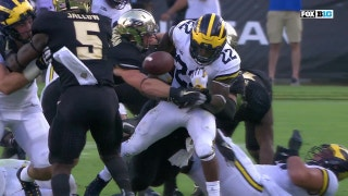 Purdue defense forces a fumble for their second takeaway of the day