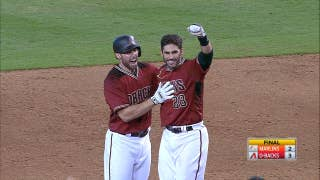 JD Martinez's walk off single clinches playoff birth for Arizona