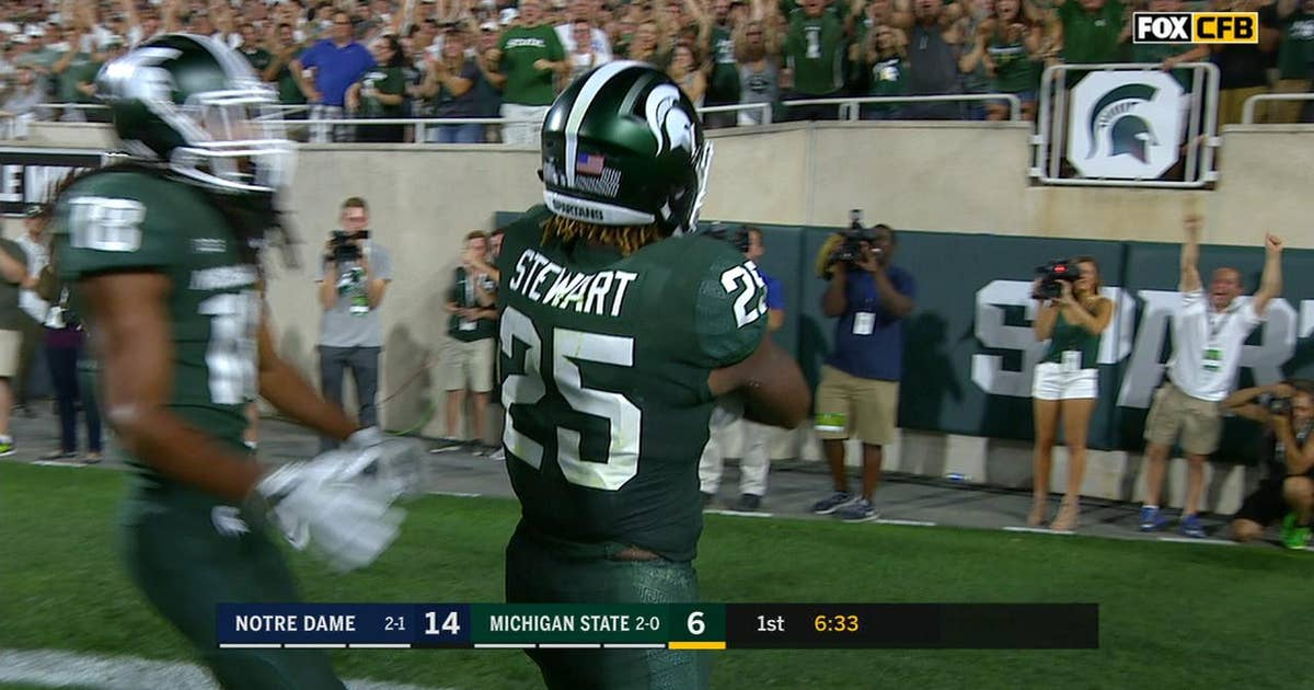 Michigan State's Darrell Stewart Jr. goes full Randy Moss for touchdown grab (VIDEO) | FOX Sports