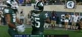 Michigan State's Darrell Stewart Jr. goes full Randy Moss for touchdown grab