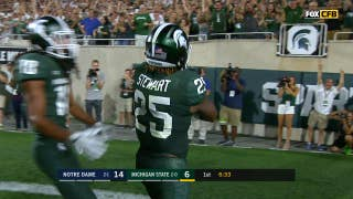 Michigan State's Darrell Stewart Jr. goes full Randy Moss for touchdown grab