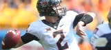 Mason Rudolph hurls 5 TDs in No. 9 Oklahoma State's 59-21 rout over Pitt
