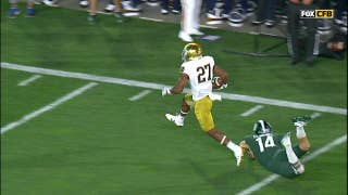 Notre Dame's Julian Love takes interception 59 yards back to the house