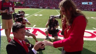 Nebraska homecoming king pops the question at Rutgers game