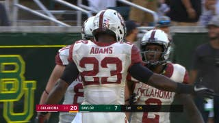 Watch Oklahoma's Abdul Adams go 99 yards for a rushing touchdown