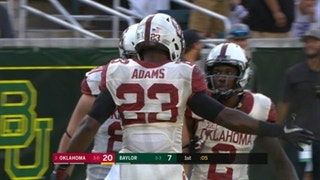 Watch Oklahoma's Abdul Adams go 99-yards for rushing touchdown