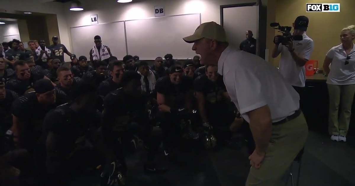Purdue Head Coach Jeff Brohm fires up his team ahead of their matchup with Michigan (VIDEO) | FOX Sports