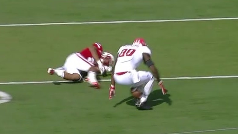 Rutgers' Jerome Washington comes up with incredible 'butt-catch' behind his legs