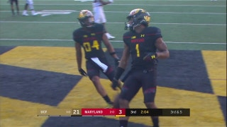 Terps' Max Bortenschlager connects with D.J. Moore for the 20-yard TD