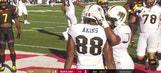 UCF's McKenzie Milton floats it in to Jordan Akins for the 6-yard score