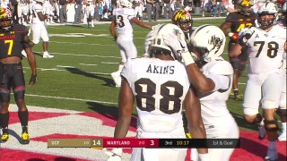 UCF's McKenzie Milton floats it in to Jordan Akins for the 6-yard score