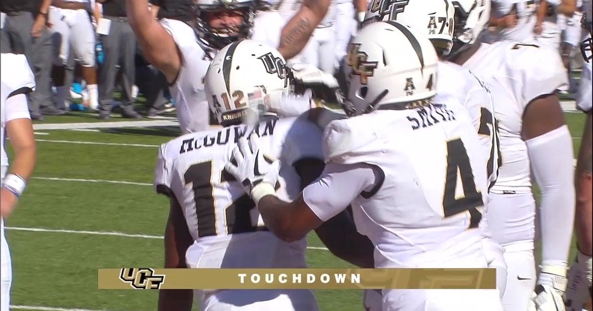 Taj McGowan scampers into the end zone to give UCF a 7-3 lead after his 1st TD run was overturned (VIDEO) | FOX Sports