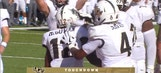 Taj McGowan scampers into the end zone to give UCF a 7-3 lead after his 1st TD run was overturned
