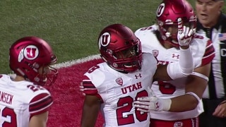 Utah's Javelin Guidry scores with a pick 6