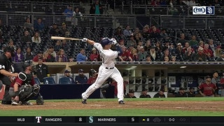 WATCH : Renfroe crushes 3 homers in history-making night at Petco Park