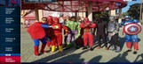 Indians rookies don superhero costumes on dress-up day